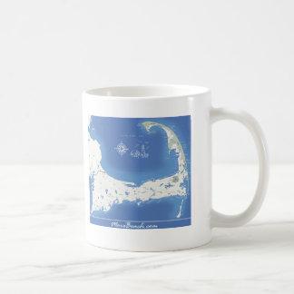 Cape Cod Map Classic White Coffee Mug