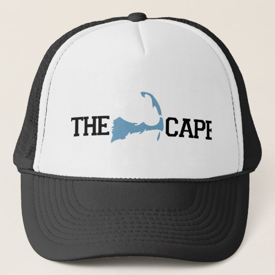 "Cape Cod ""Map"" Design. Trucker Hat"