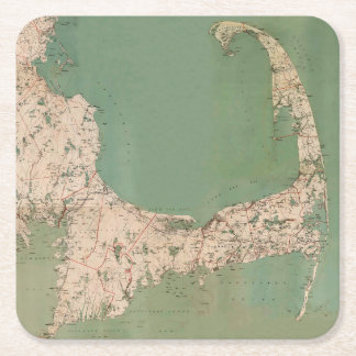 CAPE COD MAP DRINK COASTERS