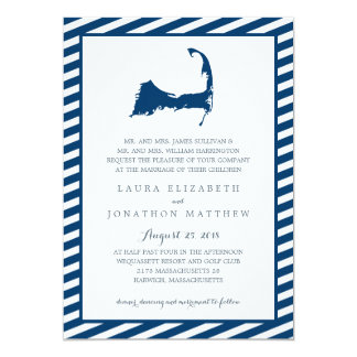 Cape Cod Map | Wedding Card