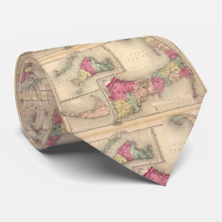 Cape Cod, Martha's Vineyard & Nantucket Map (1871) Tie