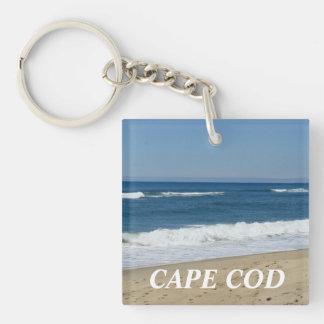 Cape Cod Massachusetts Beach Keychain Square Acrylic Keychain