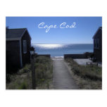 Cape Cod Massachusetts en la postal de la oscurida