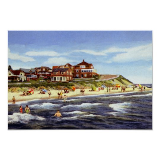 Cape Cod Massachusetts Falmouth Heights and Beach Poster