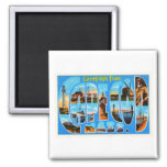 Cape Cod Massachusetts MA Vintage Travel Souvenir 2 Inch Square Magnet