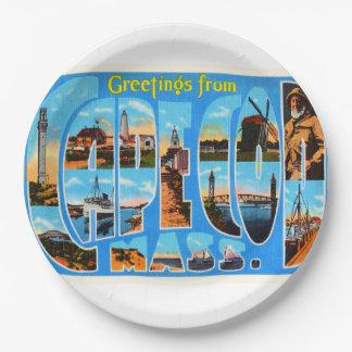 Cape Cod Massachusetts MA Vintage Travel Souvenir Paper Plate