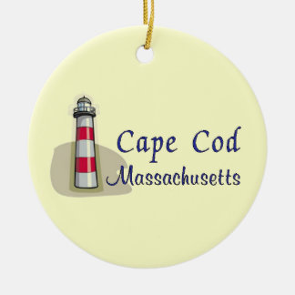 Cape Cod Massachusetts Double-Sided Ceramic Round Christmas Ornament