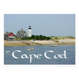 Cape Cod, Massachusetts - Sandy Neck Lighthouse Postcard