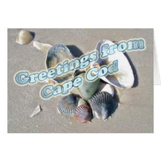 Cape Cod Massachusetts - Shell & Surf Stationery Note Card