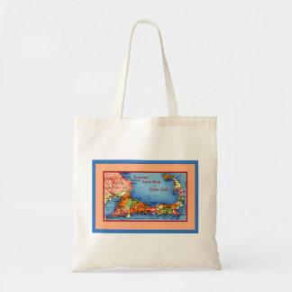 Cape Cod Massachusetts Tourists Auto Map Bag