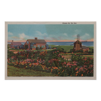 Cape Cod, MassachusettsHomes by the Sea View Poster