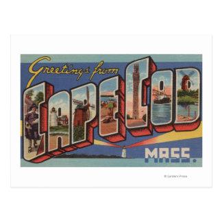 Cape Cod, MassachusettsLarge Letter Scenes Postcard