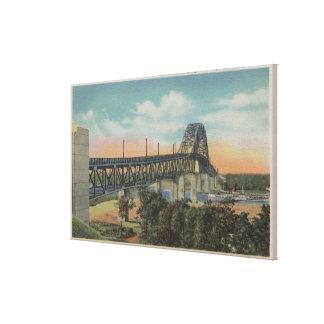 Cape Cod, MassachusettsView del puente de Bourne Lienzo Envuelto Para Galerias