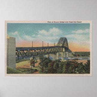 Cape Cod, MassachusettsView del puente de Bourne Posters