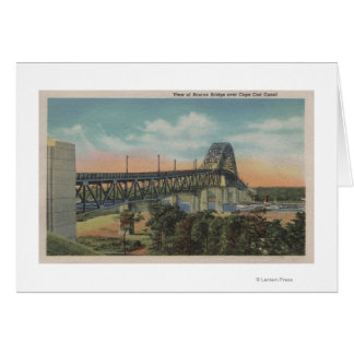 Cape Cod, MassachusettsView del puente de Bourne Tarjeta De Felicitación