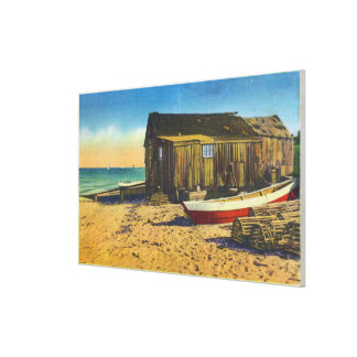 Cape Cod, MassachusettsView of a Lobster Shack Stretched Canvas Prints