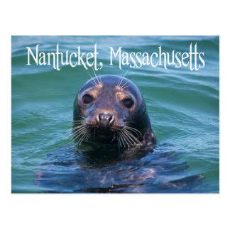Cape Cod, Nantucket, postal del sello de Massachus