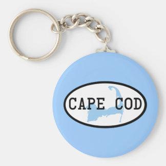 cape-cod-oval basic round button keychain