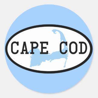 cape-cod-oval classic round sticker