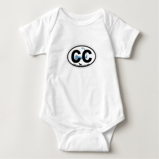 Cape Cod Oval Design. Baby Bodysuit