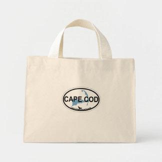 Cape Cod Oval Design. Mini Tote Bag