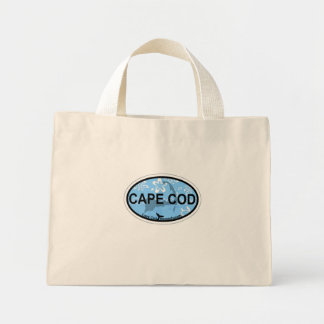 Cape Cod Oval Design. Mini Tote Bag