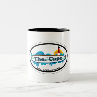 Cape Cod Oval Design. Two-Tone Coffee Mug