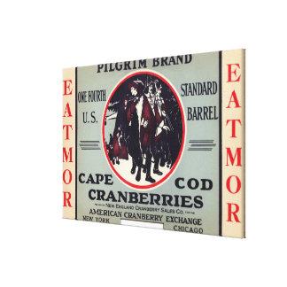 Cape Cod Pilgrim Eatmor Cranberries Brand Canvas Print
