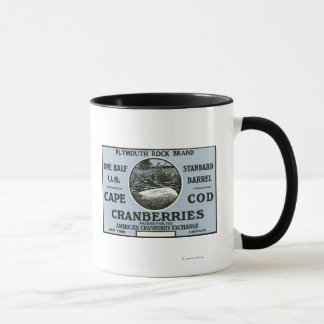 Cape Cod Plymouth Rock Brand Cranberry Label Mug