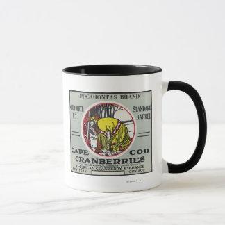 Cape Cod Pocahontas Brand Cranberry Label Mug
