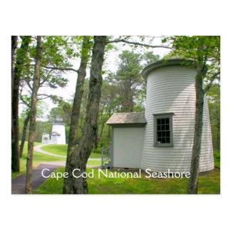 Cape Cod, postal de tres faros de las hermanas