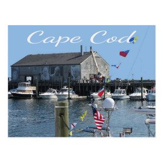 Cape Cod Provincetown MA Fishermans Wharf Postcard