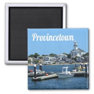 Cape Cod, Provincetown Massachusetts Imán Cuadrado