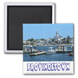 Cape Cod, Provincetown Massachusetts, MA 2 Inch Square Magnet