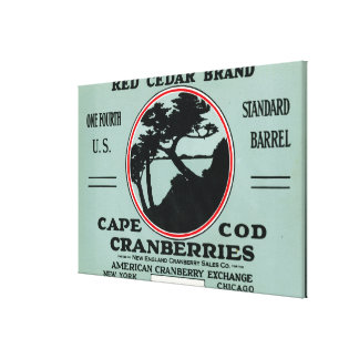 Cape Cod Red Cedar Brand Cranberry Label Canvas Print