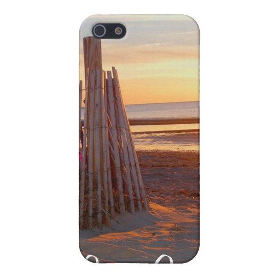 Cape Cod Romantic Sunrise over Beach iPhone 4 Case