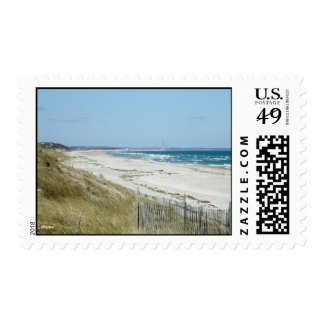 Cape Cod Sandy Beach in Winter Postage