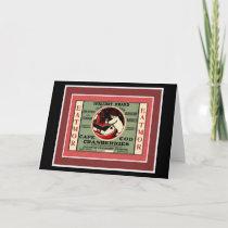 Cape Cod Santa Cranberry Holiday Card