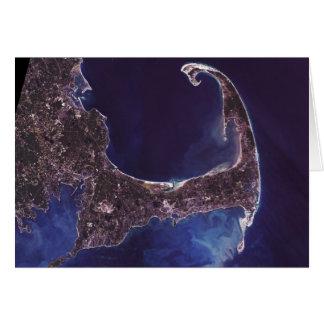 Cape Cod Satellite Photograph Card