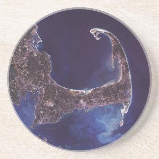 Cape Cod Satellite photograph Drink Coaster