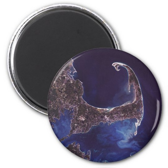 Cape Cod Satellite Photograph Magnet