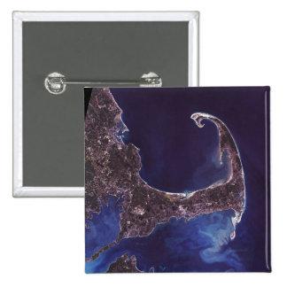 Cape Cod Satellite Photograph Pin