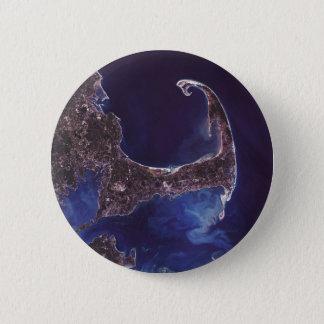 Cape Cod Satellite Photograph Pinback Button