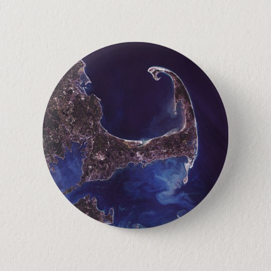 Cape Cod Satellite Photograph Pinback Button