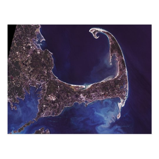 Cape Cod Satellite Photograph Postcard