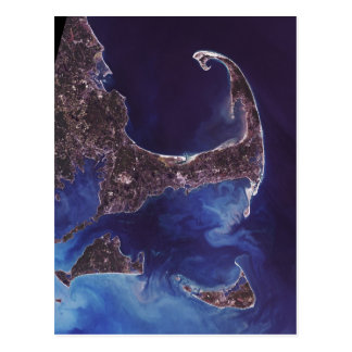 Cape Cod Satellite Photograph Post Card