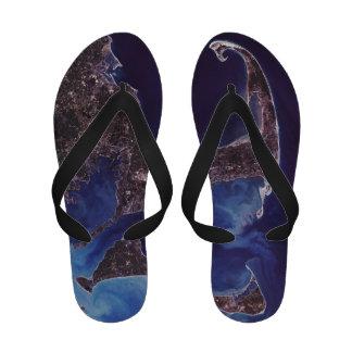 Cape Cod Satellite Photograph Sandals