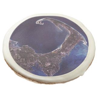 Cape Cod Satellite Photograph Sugar Cookie