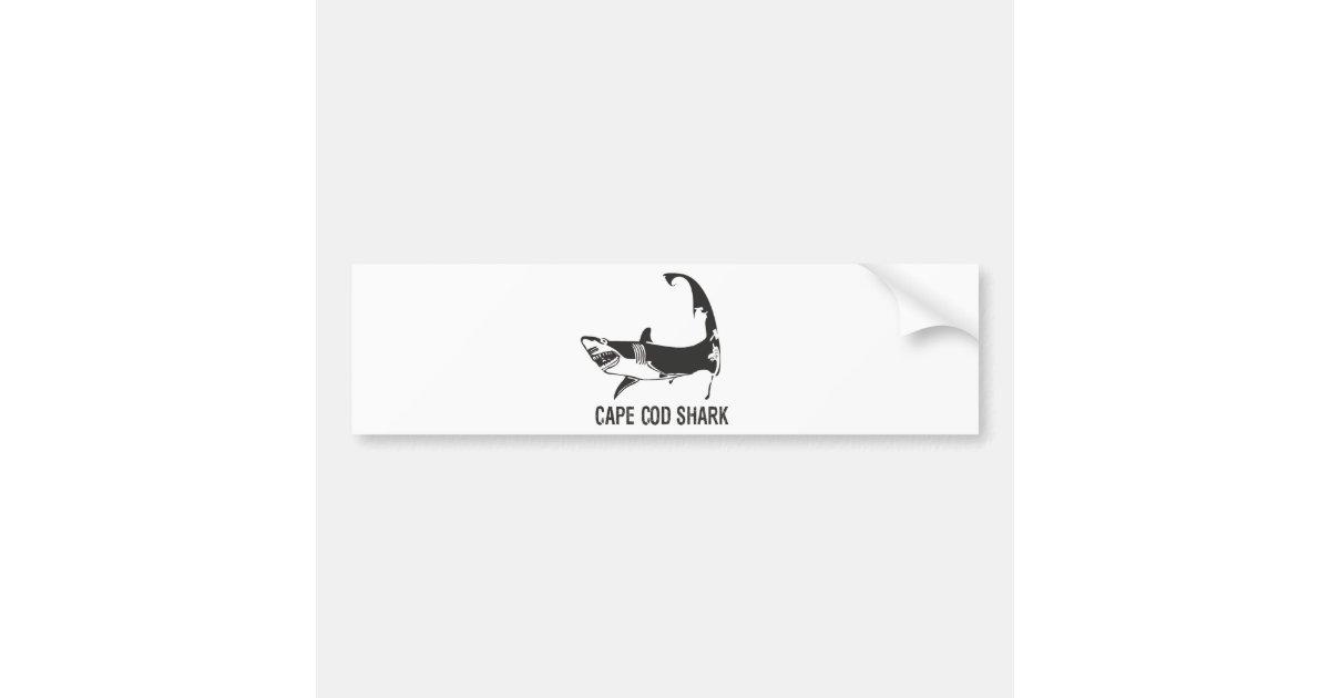 Cape Cod Shark Bumper Sticker Zazzle Com