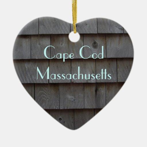 Cape cod shingles reversible customized ceramic ornament for Shingle art cape cod